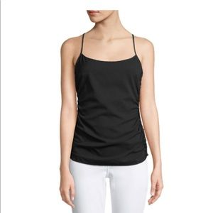 NWT Theory Stretch Silk Georgette Ruched-Sides Top